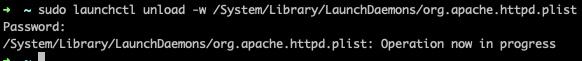 关闭mac自带apache的启动