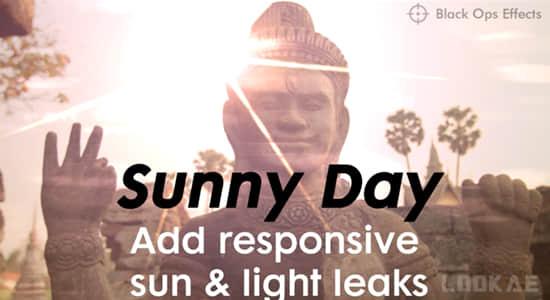 AE/PR插件-真实太阳光照耀斑特效 Sunny Day v1.0 Win