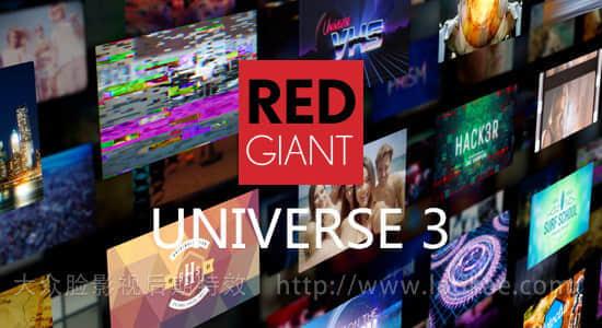 FCPX/AE/PR/OFX/达芬奇/VEGAS插件Red Giant Universe v3.3.3 Win/Mac序列号注册 红巨人视觉特效和转场